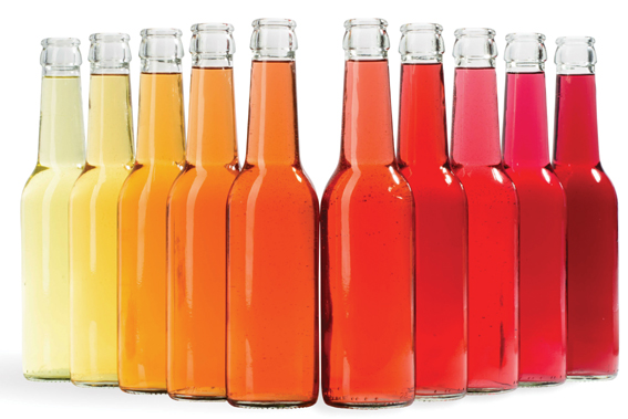 Refrigerantes coloridos
